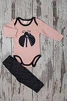 Комплект для девочки: бодик, штанишки   6мес.