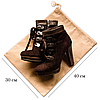 Мешок-пыльник для обуви с затяжкой Бежевый