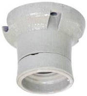 Патрон керамический Е27 | прямой ФПК-04