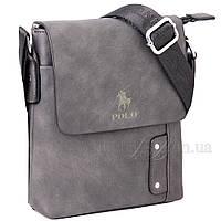 Мужская сумка Polo мессенджер серая 54391, фото 1