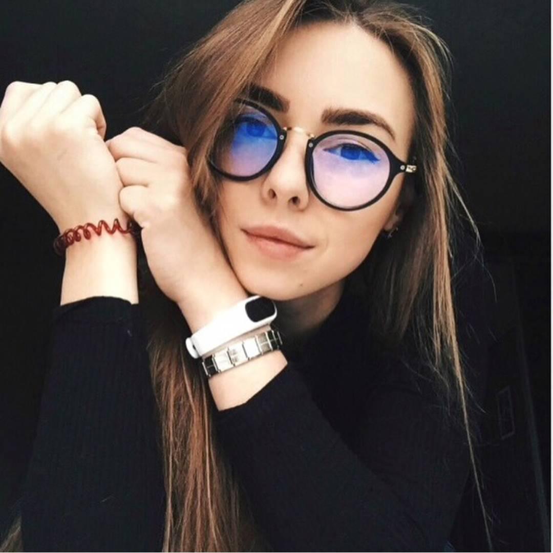 Женские круглые имиджевые очки 8505 черн золото  продажа 5d47c009e5b11