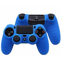 Защитный чехол на джойстик контроллер DualShock для Sony PlayStation 4 PS4 Slim PRO (Синий)