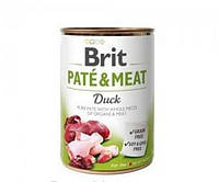 Brit (Брит) PATE & MEAT Duck - консервы для собак, утка, 400 гр