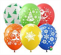 Гелиевые шары с новогодним принтом