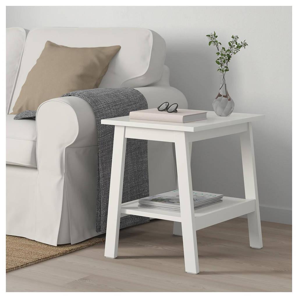 журнальный столик Ikea Lunnarp 55x45 см белый 70399020 купить по