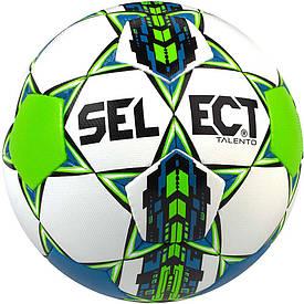 Мяч футбольный SELECT Talento бел/син/оранж, размер 5