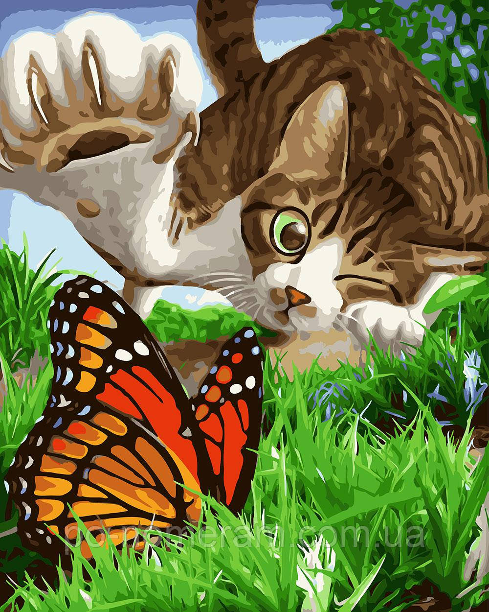 картина раскраска охотник на бабочек Bk Gx23546 40 х 50 см без коробки купить киев на Po Nomeram