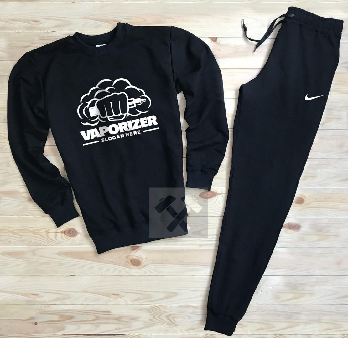 Спортивный костюм без молнии Nike черный топ реплика