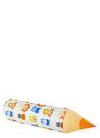 Карандаш-подушка пингвины, львы и зайчики рядами, фото 1