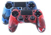 Защитный чехол на джойстик контроллер DualShock для Sony PlayStation 4 PS4 Slim Pro Камуфляж Красный