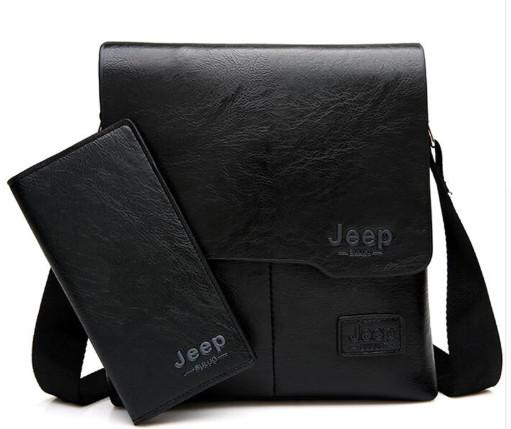 Мужская сумка Jeep Buluo + кошелек Jeep Buluo черный