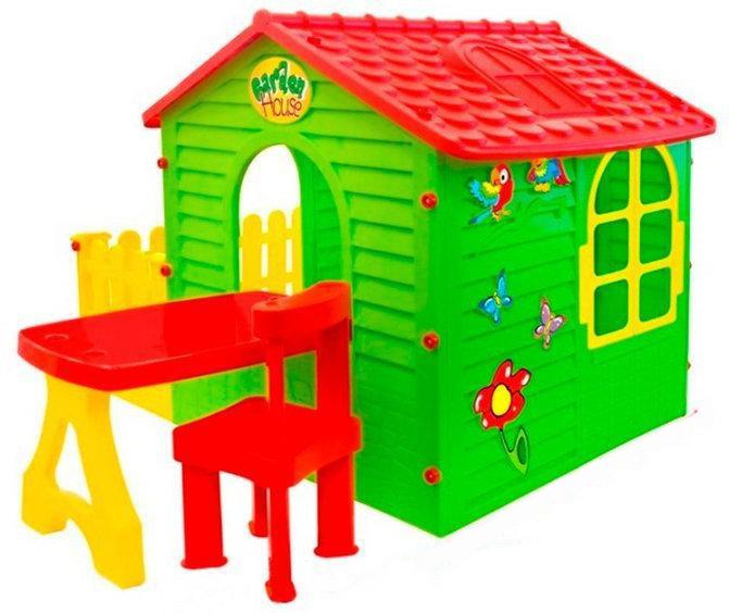 Детский игровой домик Garden House с террасой и столиком