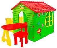 Детский игровой домик Garden House с террасой и столиком, фото 1