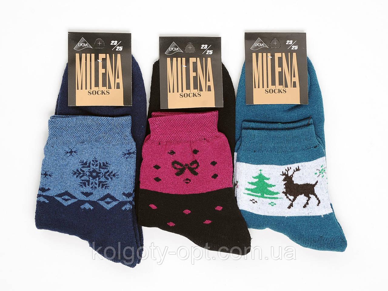 """Носки махровые женские """"Милена"""" стрейч (продаются только от 12 пар)"""