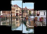 Модульная картина Город Анси. Франция