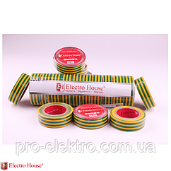 EH-AHT-1816 Желто-зеленая изолента 17м 0,15мм х 18мм