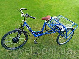 Трехколесный велосипед 3-колеса 36В 400ВТ (редукторный мотор и ЛЕД дисплей 900S) на свинцовых батареях.