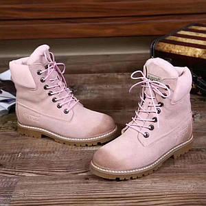 Ботинки женские зимние, UGG.Цвет розовый