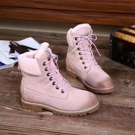 Ботинки женские зимние, UGG.Цвет розовый, фото 2