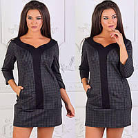 6fb3d750ac7 Платье-мини женское с 3 4 рукавом размеры 42-48 (разные цвета