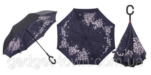 Зонт навпаки з ручкою гак El 8883