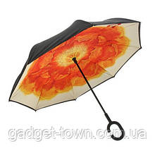 Зонт наоборот с ручкой крюк Цветок