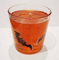Декоративная гелевая свеча Чародейка Хэллоуин оранжевый цилиндр