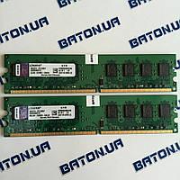 Оперативная память Kingston DDR2 4Gb KIT of 2 800MHz PC2 6400U CL6 (KVR800D2N6K2/4G), фото 1