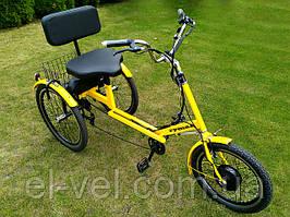 Трехколесный велосипед RYMAR 36В 400ВТ (редукторный мотор и ЛЕД дисплей LCD-5U) с литиевой батарреей