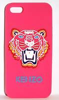 """Силиконовый чехол """"KENZO Tiger"""" для iPhone 5/5S, розовый"""