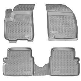 Коврики в салон для Chevrolet Epica (06-) серые полиуретановые 207090201