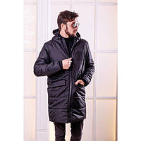 Пальто мужское зимнее на синтепоне и меху 1115
