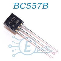 BC557B, транзистор биполярный PNP, 30В 0.1А, TO92
