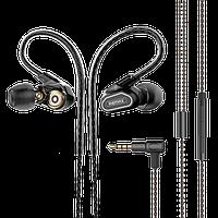 Hi-Fi Наушники с микрофоном Remax RM-580 Earphone Черные