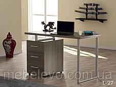 стол письменный L-27 750х1200х600мм Loft Design, фото 3