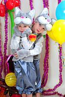 Костюм Кот, Котик, Кошечка для детей 3-7 лет. Детский карнавальный маскарадный костюм. Цвет серый