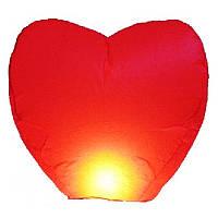"""Небесный фонарик """"Сердце красное"""" Китай"""