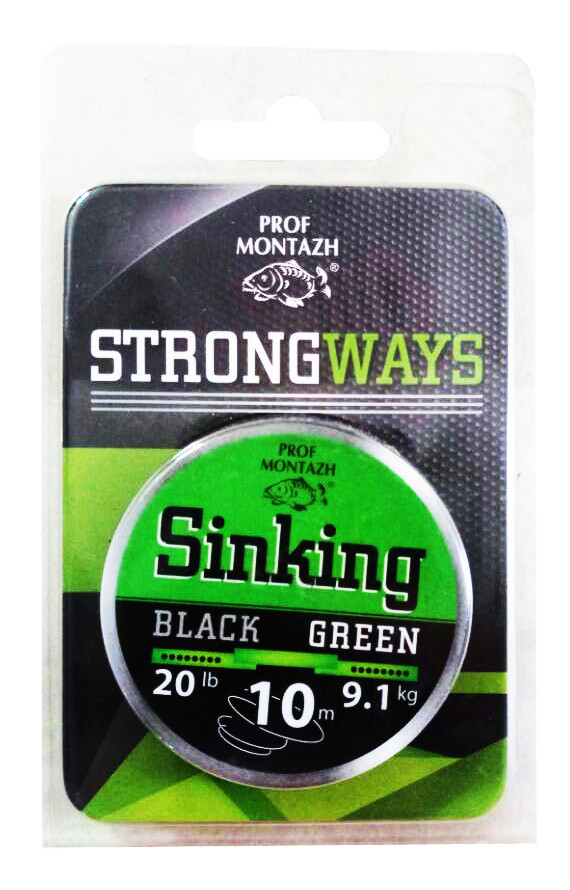 Поводочный материал Профмонтаж Black-Green 20 lb 10 m