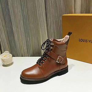 Ботинки женскиеLouis Vuitton.Кожа/Цвет коричневый