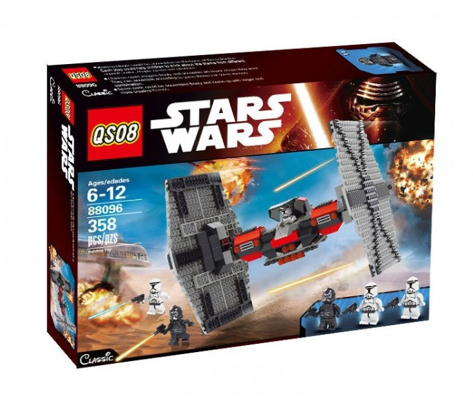 Конструктор QS08 серия Stars Wars 88096 Т-Файтер Первого Ордена (аналог Lego Star Wars)