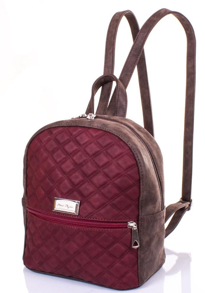 a2196c561b0c Женский рюкзак из качественного кожзаменителя ETERNO ETZG22-17-178 л  коричневый, бордовый