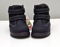 Детские зимние ботинки для мальчика черные 25р., фото 3