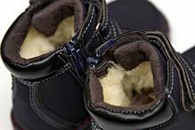 Детские зимние ботинки для мальчика черные 25р., фото 2