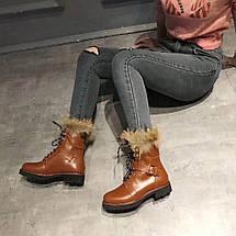 Ботинки зимние женскиеLouis Vuitton.Кожа/Цвет коричневый, фото 2