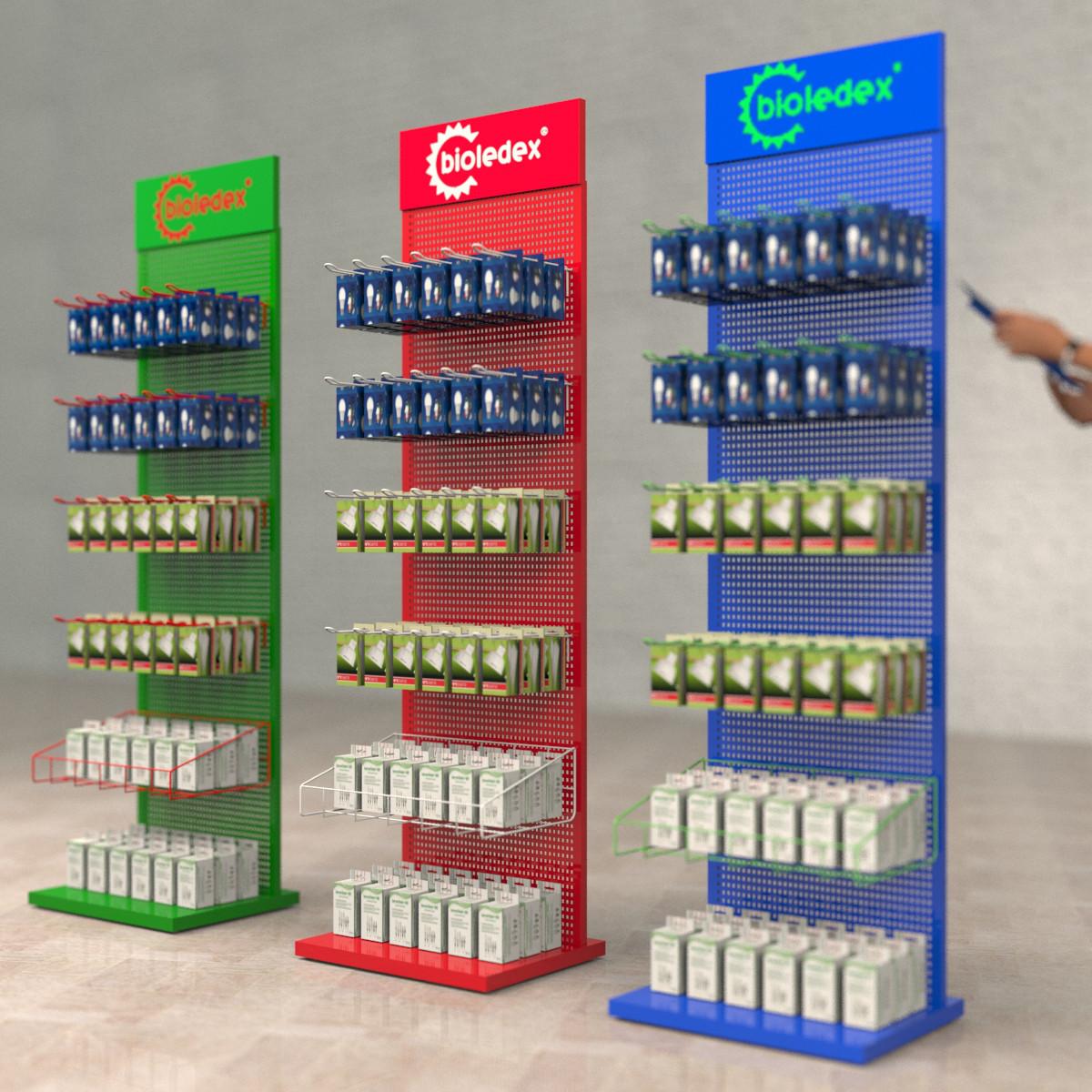 Производство торгового оборудования из металла для магазина