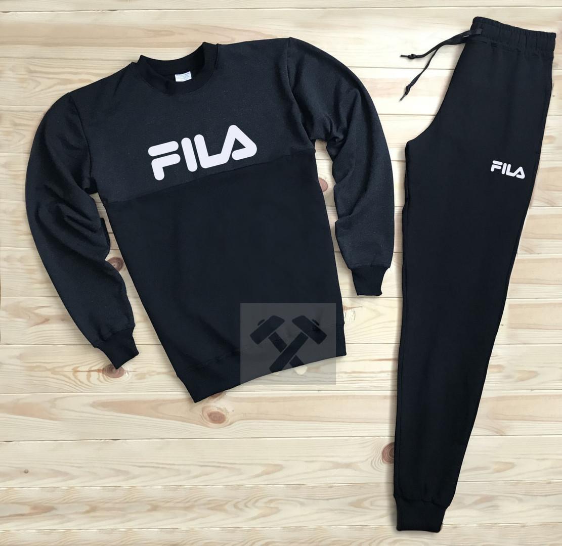 Спортивный костюм без молнии Fila черный топ реплика