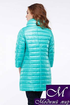 Демисезонная женская куртка удлиненная (р. 42-54) арт. Анаит мята № 27, фото 2