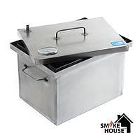 Коптильня для горячего копчения с термометром (400х300х280), фото 1