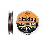 Поводочный материал Профмонтаж Black-Brown 20 lb 10 m