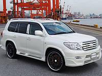Накладки на пороги Toyota Land Cruiser 200
